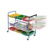 Art Equipment Trolley with Paint Dryer