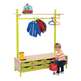 Bubblegum Cloakroom Bottom Unit with 8 Shallow Trays