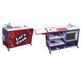 COOKER TROLLEY COLLAPSIBLE TABLE