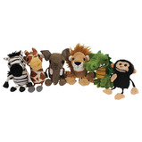 AFRICAN ANIMALS FINGER PUPPETS PK 6