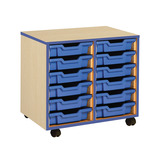 COLOURED EDGE 12 TRAY UNIT BLUE