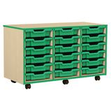 Coloured Edge 18 Shallow Tray Unit