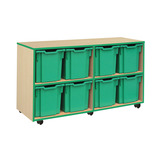 COLOURED EDGE 8 JUMBO TRAY UNIT BLUE