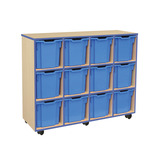 COLOURED EDGE 12 JUMBO TRAY UNIT BL