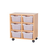 Cubby Tray Storage: 3 Tier with 6 Trays