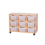 Cubby Tray Storage: 3 Tier with 9 Trays