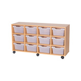 Cubby Tray Storage: 3 Tier with 12 Trays