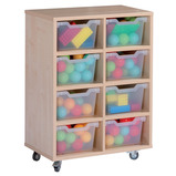 Cubby Tray Storage: 4 Tier with 8 Trays