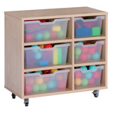 Assorted Cubby Tray Storage: 3 Tier with 6 Trays