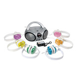 Coloured Headphones Listening Centre Set