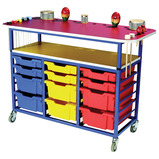 Mobile Multi Purpose Music Trolley