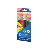 STAEDTLER PENCILS 12 AST COLS MEDIUM