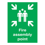 FIRE ASSEMBLY POINT SIGN 297X420MM