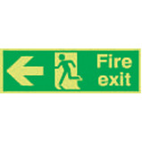 Nite-Glo Fire Exit Running Man Arrow Left