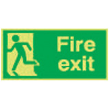 Nite-Glo Fire Exit Running Man Left