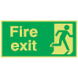 Nite-Glo Fire Exit Running Man Right