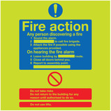 200X200 NITE GLOW FIRE ACTION SIGN