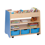 TRUDY BROWSER BOOK TROLLEY BLUE
