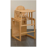 COMBI WOODEN HIGH CHAIR & TABLE