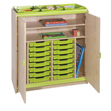 Trudy 16 Tray Shelf Cupboard
