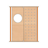 TRUDY DOOR&PEG BOARD 1200MM PURPLE