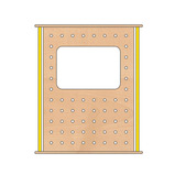 TRUDY WINDOW PEG BOARD 1200MM PURPLE