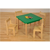 Coloured Square Beechwood Tables