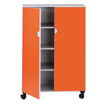 Mobile 4 Shelf Unit with Doors