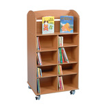 Mobile Double Sided Bookcases