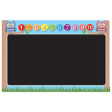 COUNTING OWL CHALKBOARD 400X600MM