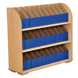 3 Shelf A4 Maple Bookcase