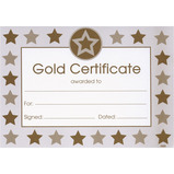 GOLD CERTIFICATES & SEAL PK16