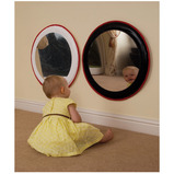 Black and White Padded Mirror Set