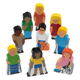 Wooden People with Disabilities