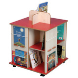 BOOKCUBE 670X670X892 RED/MAPLE
