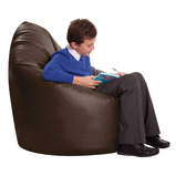 GIANT FAUX LEATHER STUDY CHR BLACK