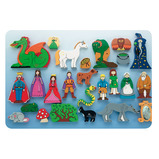 Fantasy World  Wooden Characters Set