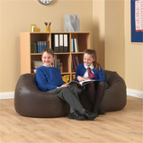 FAUX LEATHER CLASSIC BEAN BAG PK 5 BLACK