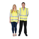 HIGH VIS 2 BAND VEST YELLOW - L/XL