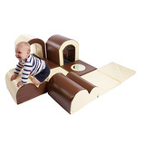 TODDLER BUMPS TUNNEL SET BROWN/CREAM