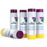 COLOURED GLUE STICK PK 12