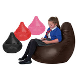 RECLINING POD FAUX LEATHER BLACK