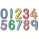 NUMBER SIGNS 450X450MM NO 0-9 PACK