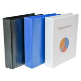 DISPLAY BINDER 4 RING 40MM BLUE