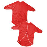 CHILDS APRON HALF SLEEVE 70CM RED