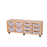 Assorted Cubby Tray Storage: 2 Tier with 10 Trays