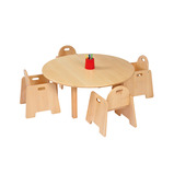 Solid Beech Circular Table and Chairs
