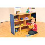 MILAN 8 COMPARTMENT CABINET BLUE