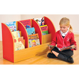 MILAN SNG SIDE BOOK STORAGE 4 TIER RED
