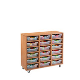 Cubby Tray Storage: 6 Tier with 18 Trays